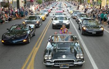 Corvettes Parade in Historic Downtown Carlisle